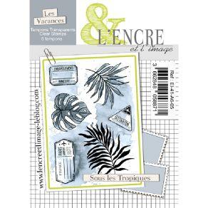 Tampon clear SOUS LES TROPIQUES par L'Encre et l'Image. Scrapbooking et loisirs créatifs. Livraison rapide et cadeau dans cha...