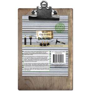 Support clipboard en bois WEATHERED 15 X 23 CM par Salvaged. Scrapbooking et loisirs créatifs. Livraison rapide et cadeau dan...