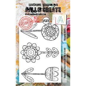 Tampons clear AALL and Create BLOOMING DOODLES 508