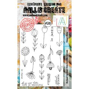 Tampons clear AALL and Create FLOWER STICKS 518