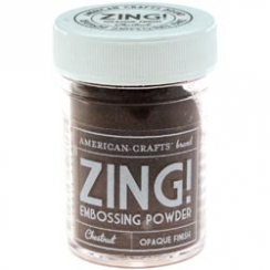PROMO de -30% sur Poudre à embosser ZING CHESNUT OPAQUE American Crafts