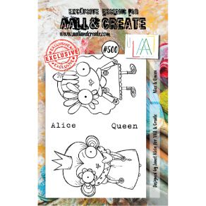 Tampons clear AALL and Create ALICE & QUEEN 500 par AALL & Create. Scrapbooking et loisirs créatifs. Livraison rapide et cade...