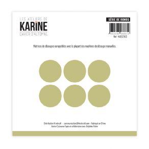 Outil de découpe Cahier d'Automne SERIE DE RONDS par Les Ateliers de Karine. Scrapbooking et loisirs créatifs. Livraison rapi...