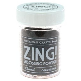 Poudre à embosser ZING CHARCOAL OPAQUE