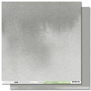 Papier uni Back to Basics Cahier d'Automne 11 GRIS SOURIS par Les Ateliers de Karine. Scrapbooking et loisirs créatifs. Livra...