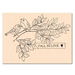 Tampon bois Cahier d'Automne FALL IN LOVE