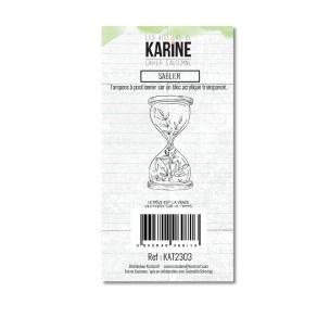 Tampon clear Cahier d'Automne SABLIER par Les Ateliers de Karine. Scrapbooking et loisirs créatifs. Livraison rapide et cadea...