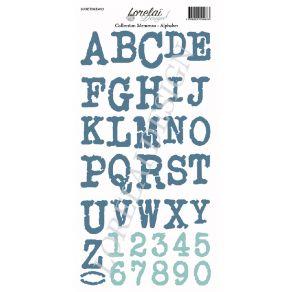 Planche d'étiquettes à découper MEMENTO ALPHABET par Lorelai Design. Scrapbooking et loisirs créatifs. Livraison rapide et ca...