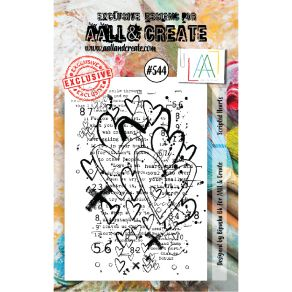 Tampon clear AALL and Create SCRIPTED HEARTS 544