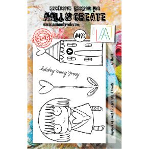 Tampon clear AALL and Create ALL HEART 493