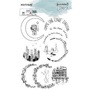 Tampon clear ENVIE D'AILLEURS par DIY and Cie. Scrapbooking et loisirs créatifs. Livraison rapide et cadeau dans chaque comma...