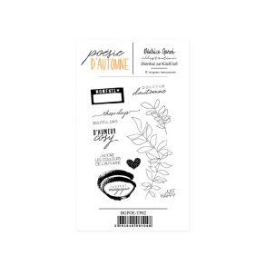 Tampons clear POÉSIE D'AUTOMNE 2 par Béatrice Garni Illustration. Scrapbooking et loisirs créatifs. Livraison rapide et cadea...