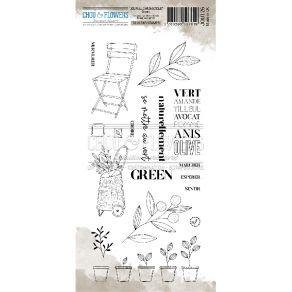 Tampon clear GREEN par Chou and Flowers. Scrapbooking et loisirs créatifs. Livraison rapide et cadeau dans chaque commande.