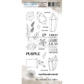 Tampon clear PURPLE par Chou and Flowers. Scrapbooking et loisirs créatifs. Livraison rapide et cadeau dans chaque commande.