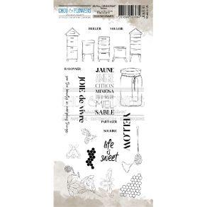 Tampon clear YELLOW par Chou and Flowers. Scrapbooking et loisirs créatifs. Livraison rapide et cadeau dans chaque commande.