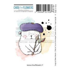 Tampon non monté DOUDOU CALIN ARTISTE par Chou and Flowers. Scrapbooking et loisirs créatifs. Livraison rapide et cadeau dans...