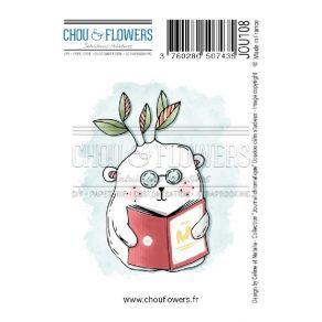 Tampon non monté DOUDOU CALIN STUDIEUX par Chou and Flowers. Scrapbooking et loisirs créatifs. Livraison rapide et cadeau dan...
