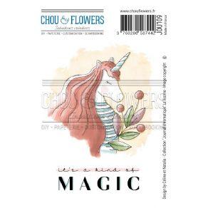 Tampon non monté LICORNE par Chou and Flowers. Scrapbooking et loisirs créatifs. Livraison rapide et cadeau dans chaque comma...