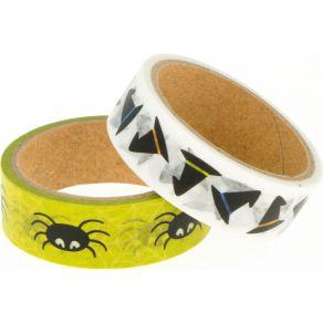 2 Masking Tape ARAIGNEES par Artemio. Scrapbooking et loisirs créatifs. Livraison rapide et cadeau dans chaque commande.