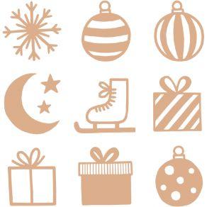 28 embellissements bois MINI SILHOUETTES IMAGINE CHRISTMAS par Artemio. Scrapbooking et loisirs créatifs. Livraison rapide et...