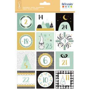 Stickers IMAGINE XMAS CARRES par Artemio. Scrapbooking et loisirs créatifs. Livraison rapide et cadeau dans chaque commande.
