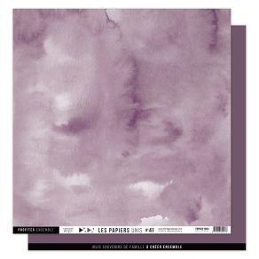 Papier uni n°41 PRUNE par Florilèges Design. Scrapbooking et loisirs créatifs. Livraison rapide et cadeau dans chaque commande.