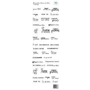 Planche d'étiquettes à découper PLAISIR D'OFFRIR