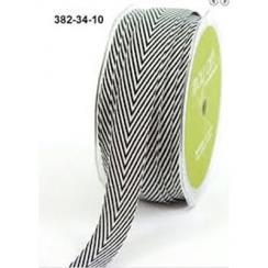 Ruban Twill Stripes BLACK