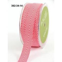 Ruban Twill Stripes RED