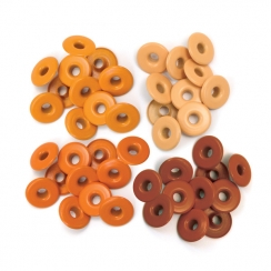 Wide Eyelets ALUMINIUM ORANGE