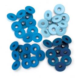 Wide Eyelets ALUMINIUM BLUE par We R Memory Keepers. Scrapbooking et loisirs créatifs. Livraison rapide et cadeau dans chaque...