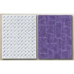 Plaques d'embossage DIAMOND PLATE & RIVETED METAL par Sizzix. Scrapbooking et loisirs créatifs. Livraison rapide et cadeau da...