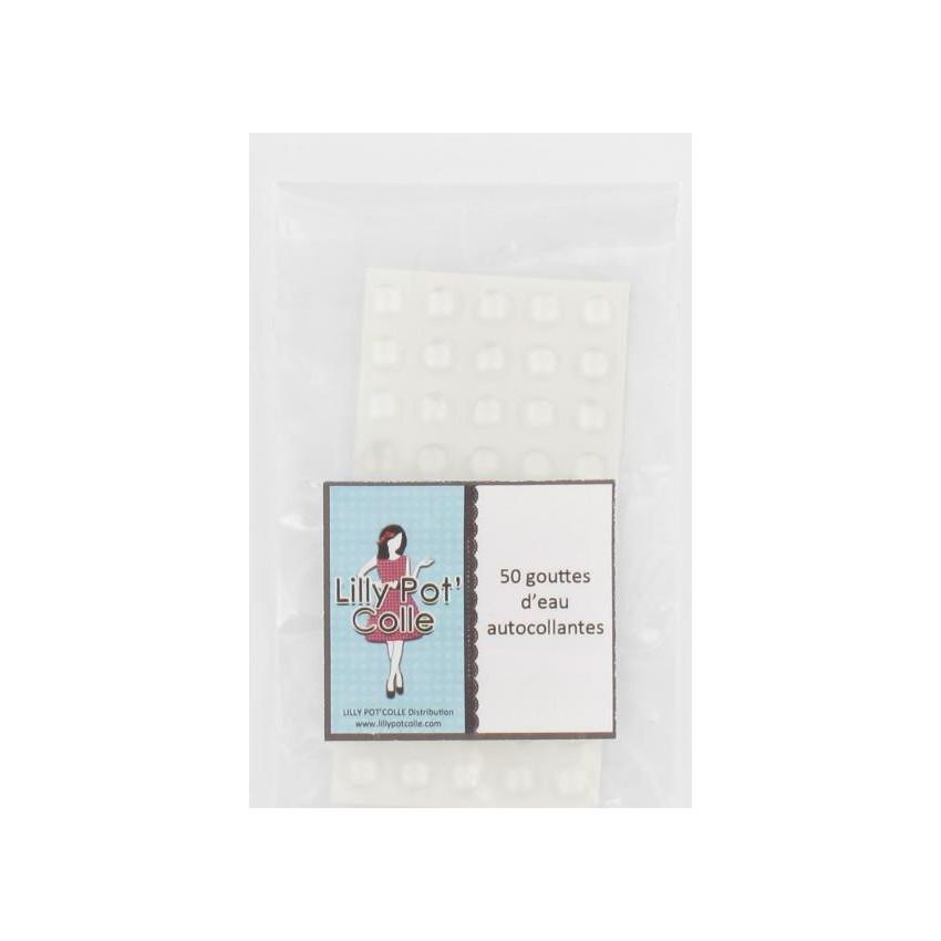 50 Gouttes d'eau translucides adhésives par Lilly Pot'colle. Scrapbooking et loisirs créatifs. Livraison rapide et cadeau dan...