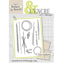 Tampons clear LES COUTURES par L'Encre et l'Image. Scrapbooking et loisirs créatifs. Livraison rapide et cadeau dans chaque c...