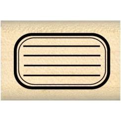 Tampon bois MINI ETIQUETTE ÉCOLE par Florilèges Design. Scrapbooking et loisirs créatifs. Livraison rapide et cadeau dans cha...