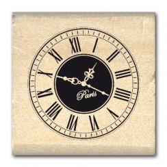 Tampon bois PETITE HORLOGE  par Florilèges Design. Scrapbooking et loisirs créatifs. Livraison rapide et cadeau dans chaque c...