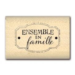 PROMO de -20% sur Tampon bois ENSEMBLE EN FAMILLE  Florilèges Design