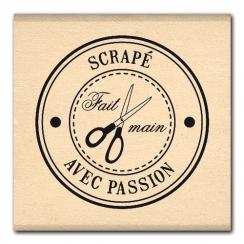 Tampon bois BULLE DE PASSION par Florilèges Design. Scrapbooking et loisirs créatifs. Livraison rapide et cadeau dans chaque ...