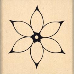Tampon bois JOLIE FLEUR BLANCHE par Florilèges Design. Scrapbooking et loisirs créatifs. Livraison rapide et cadeau dans chaq...