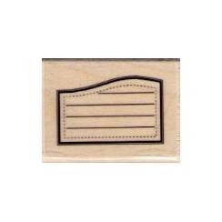 Tampon bois ÉTIQUETTE DOSSIER par Florilèges Design. Scrapbooking et loisirs créatifs. Livraison rapide et cadeau dans chaque...