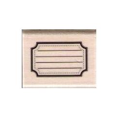 Tampon bois ÉTIQUETTE ECOLE par Florilèges Design. Scrapbooking et loisirs créatifs. Livraison rapide et cadeau dans chaque c...
