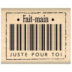 Tampon bois FAIT MAIN POUR TOI par Florilèges Design. Scrapbooking et loisirs créatifs. Livraison rapide et cadeau dans chaqu...