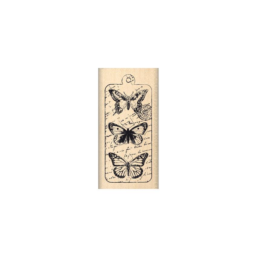 PROMO de -20% sur Tampon bois ENVOLÉE DE PAPILLONS  Florilèges Design