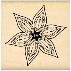 PROMO de -30% sur Tampon bois PETITE FLEUR STAR Florilèges Design