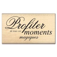 Tampon bois MOMENTS MAGIQUES par Florilèges Design. Scrapbooking et loisirs créatifs. Livraison rapide et cadeau dans chaque ...