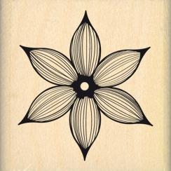 Tampon bois JOLIE FLEUR LIGNÉE par Florilèges Design. Scrapbooking et loisirs créatifs. Livraison rapide et cadeau dans chaqu...
