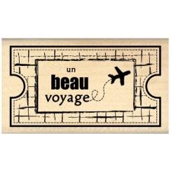 Tampon bois TICKET VOYAGE par Florilèges Design. Scrapbooking et loisirs créatifs. Livraison rapide et cadeau dans chaque com...