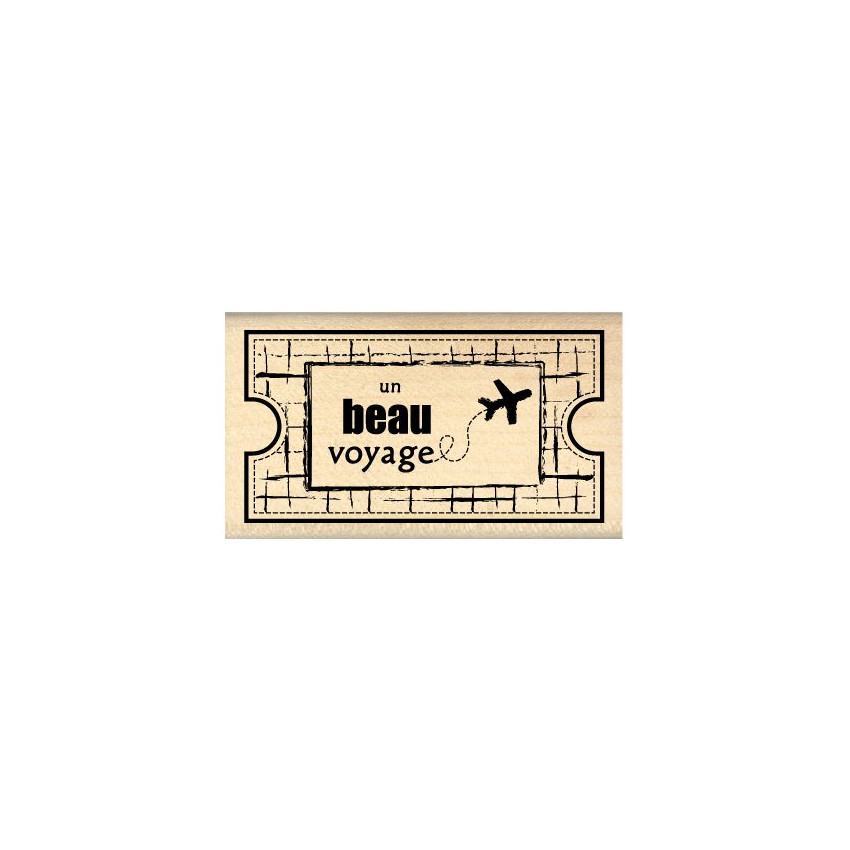 Tampon bois TICKET VOYAGE par . Scrapbooking et loisirs créatifs. Livraison rapide et cadeau dans chaque commande.