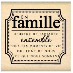 PROMO de -20% sur Tampon bois EN FAMILLE Florilèges Design