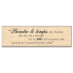 Tampon bois JOLIE VIE par Florilèges Design. Scrapbooking et loisirs créatifs. Livraison rapide et cadeau dans chaque commande.